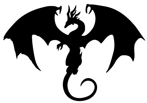 Cute Dragon Silhouette - ClipArt Best