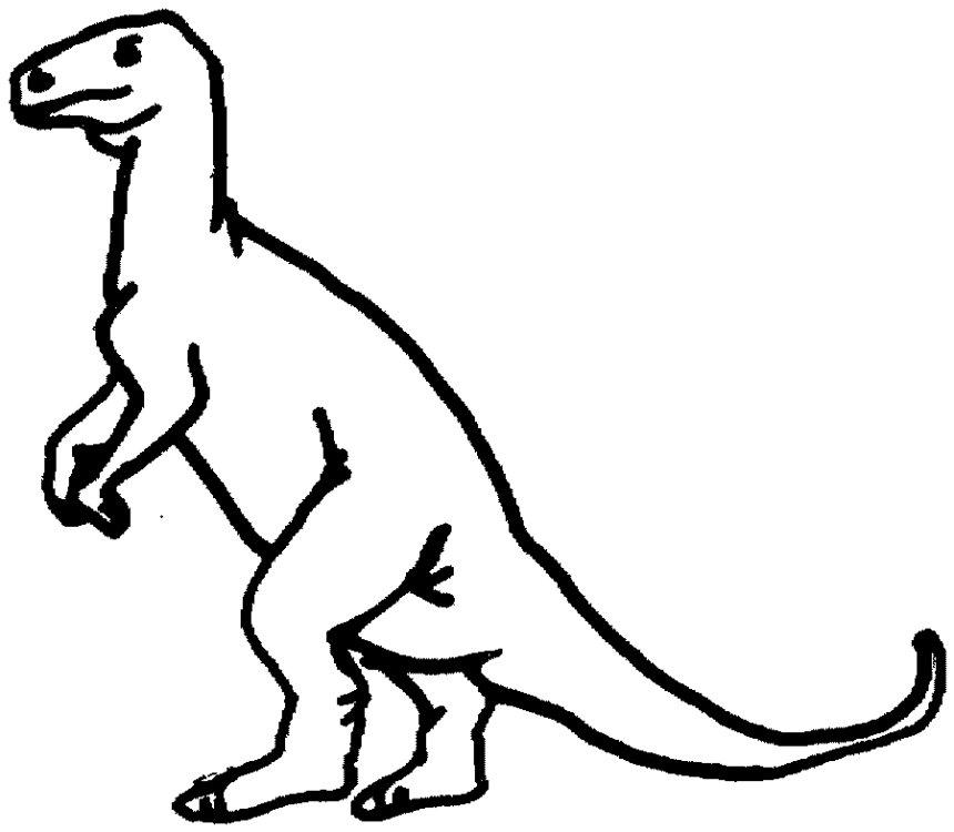 dinosaur clip art outline - photo #36