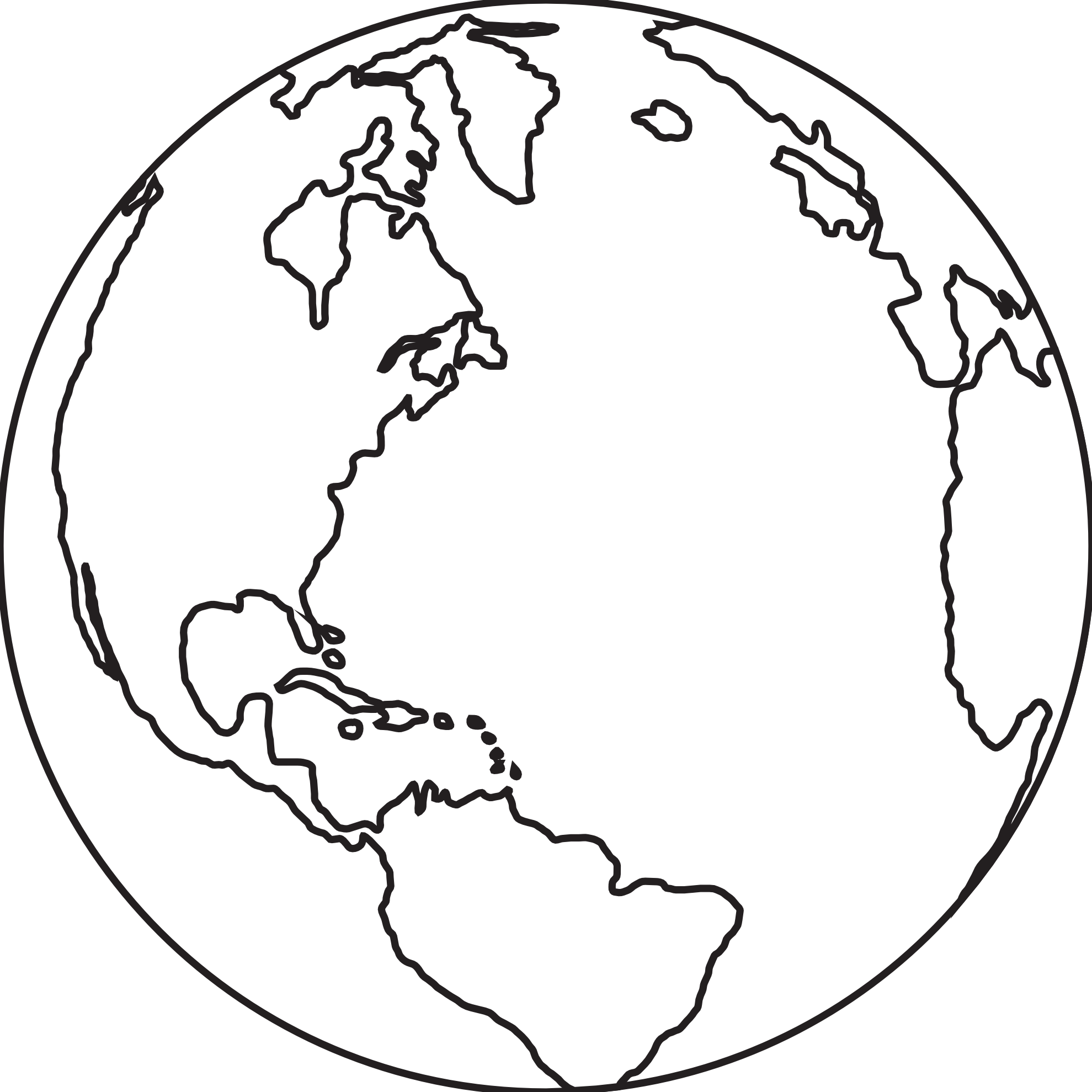 Line Drawing Earth : Drawing of earth clipart best