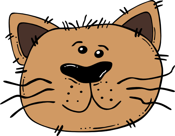 Cute Cat Face Cartoon