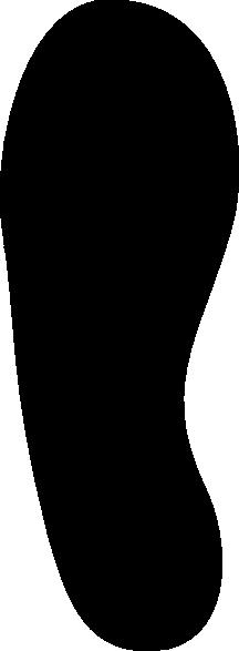 printable shoe print template