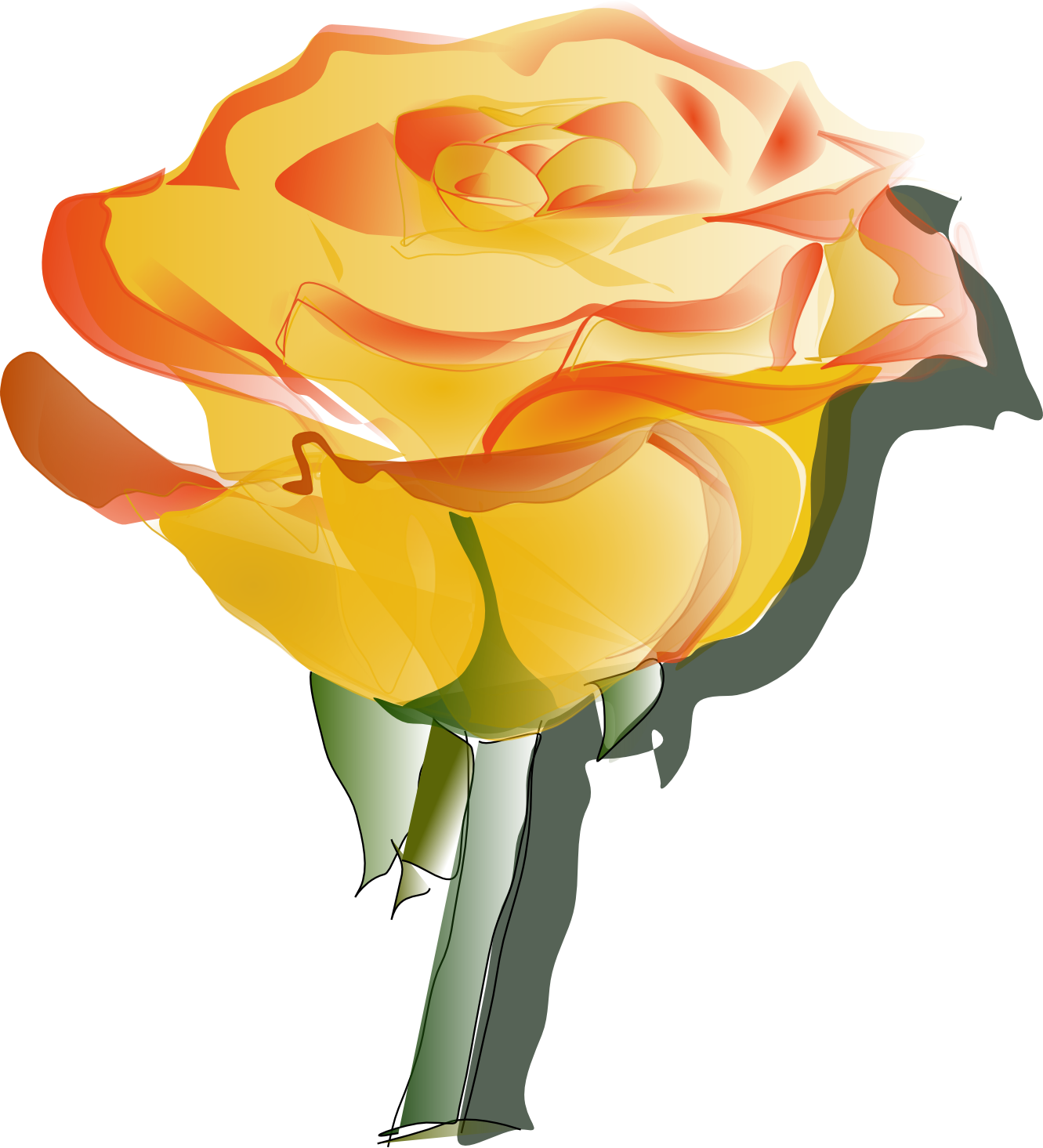 animated clip art roses - photo #12