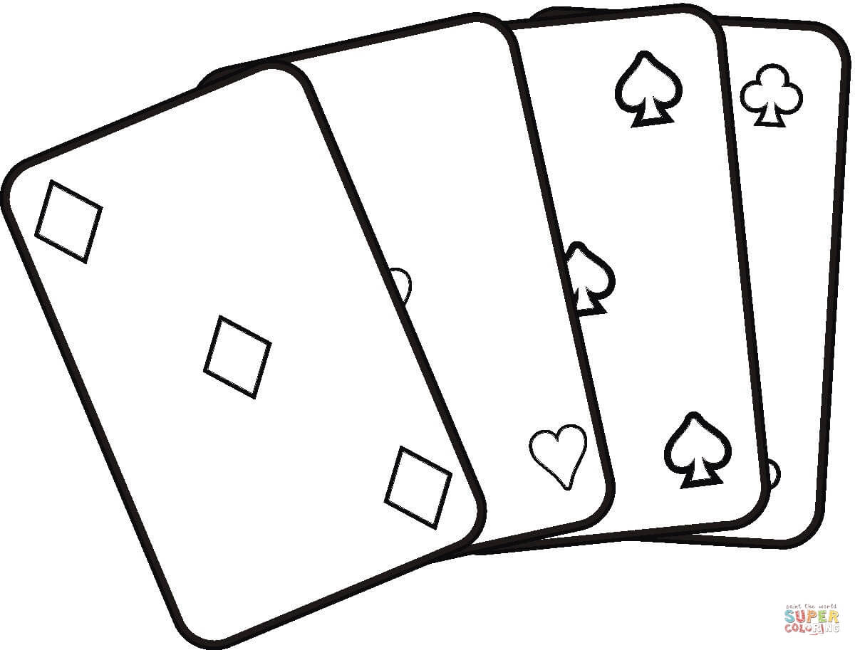 Playing Cards Coloring Pages - ClipArt Best