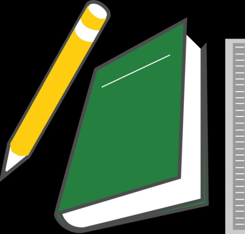 books pencils   clipart best
