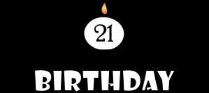 Birthday 21 Clipart Best