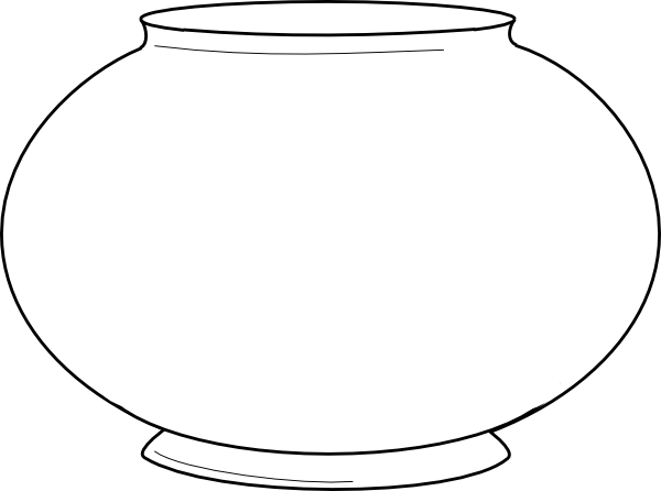 Blank Fishbowl Clip Art Vector Online Royalty Free | Hagio Graphic