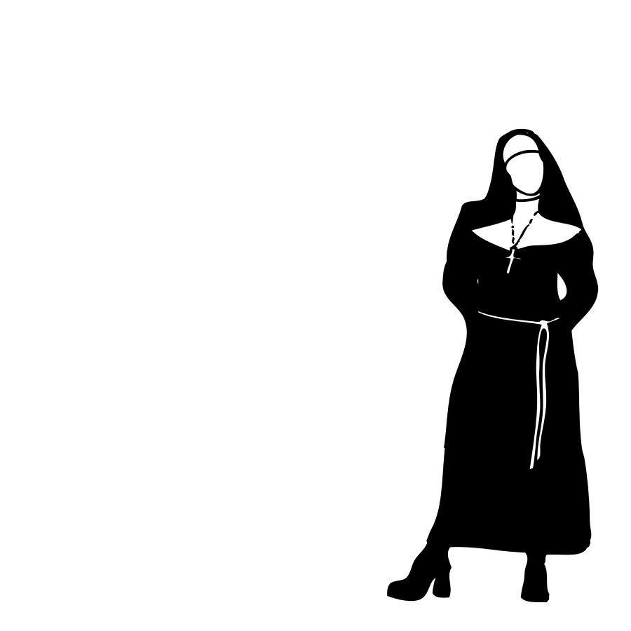 Silhouette Nun - ClipArt Best