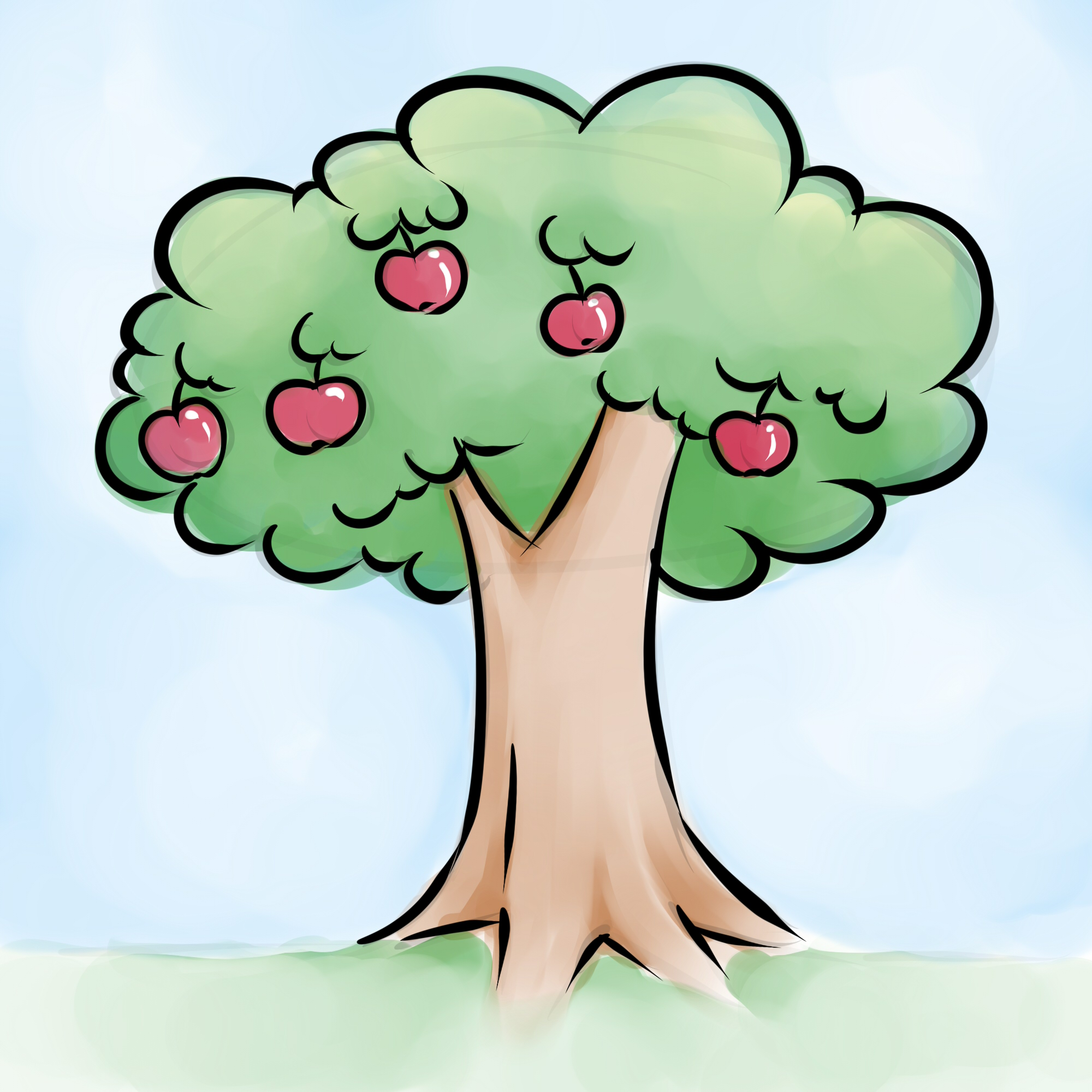 Apple Tree Drawing - ClipArt Best