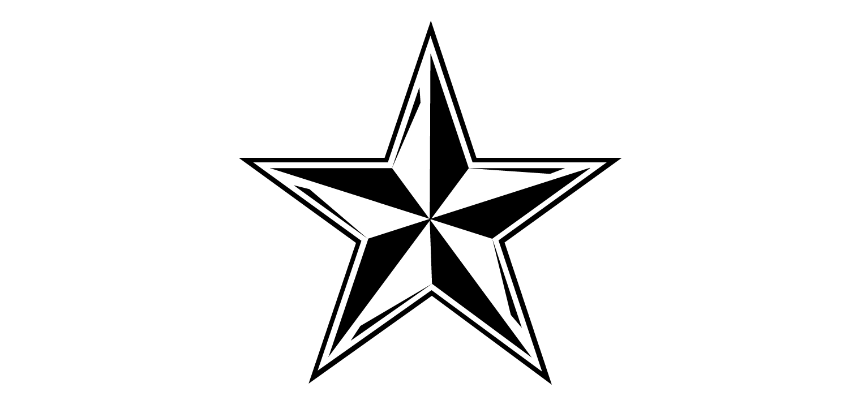 free black and white star clip art - photo #27