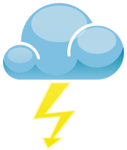 thunderstorm symbol clipart best