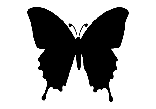 Butterfly Silhouette Vector « Silhouette Graphics Silhouette Graphics ...
