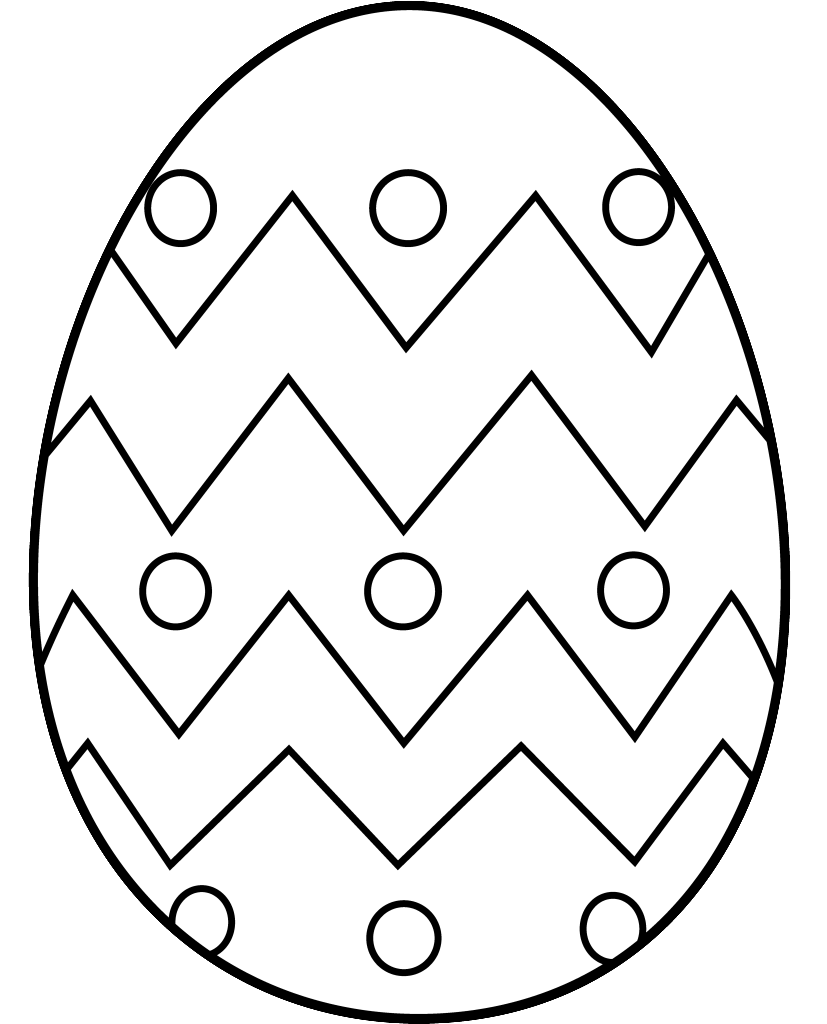 Egg Black And White Clipart - ClipArt Best