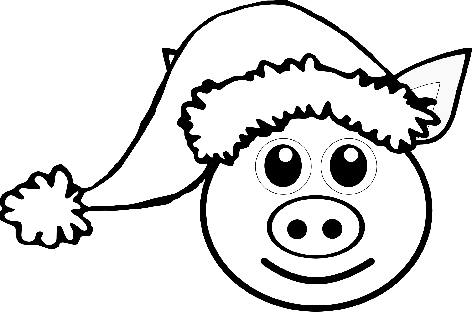 Line Drawing Pig Face : Pig line drawing clipart best
