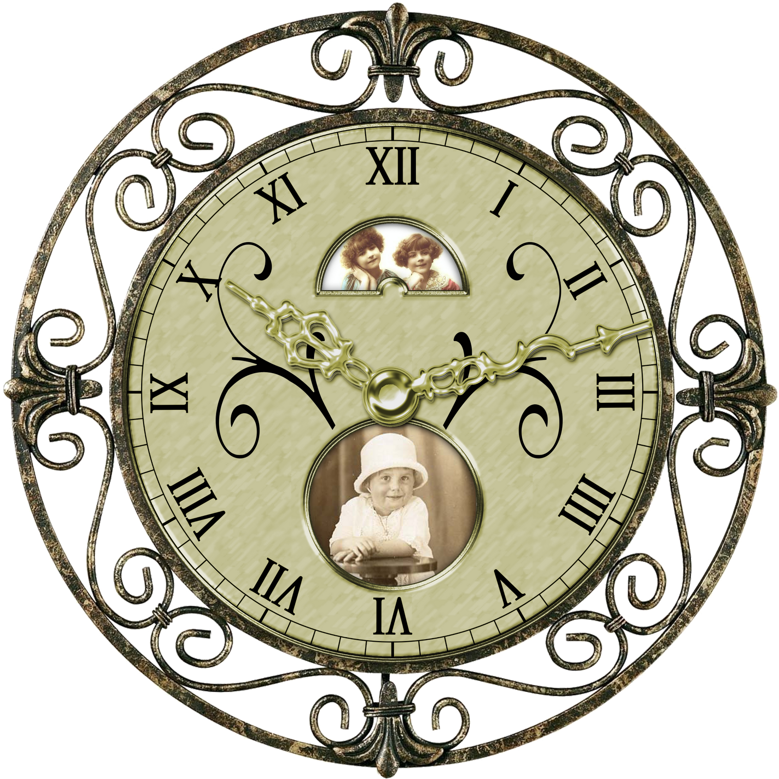 vintage clocks digital design boutique clipart