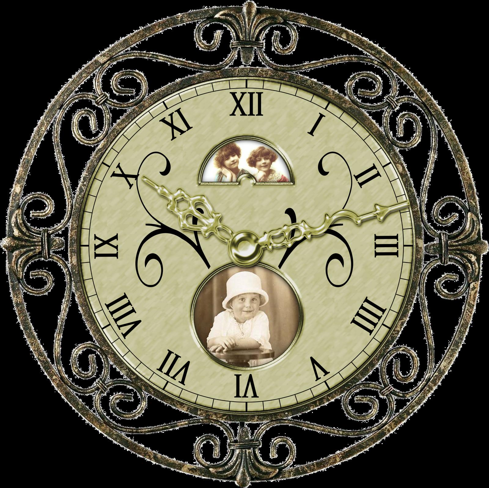 vintage clocks digital design boutique clipart clip