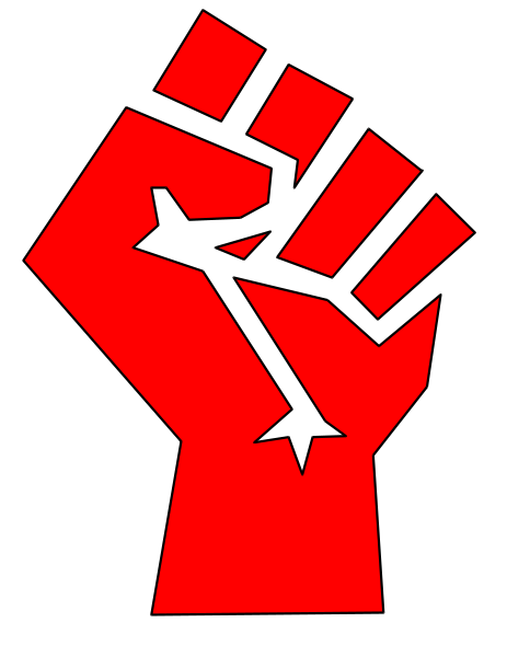 Red stylized fist.svg