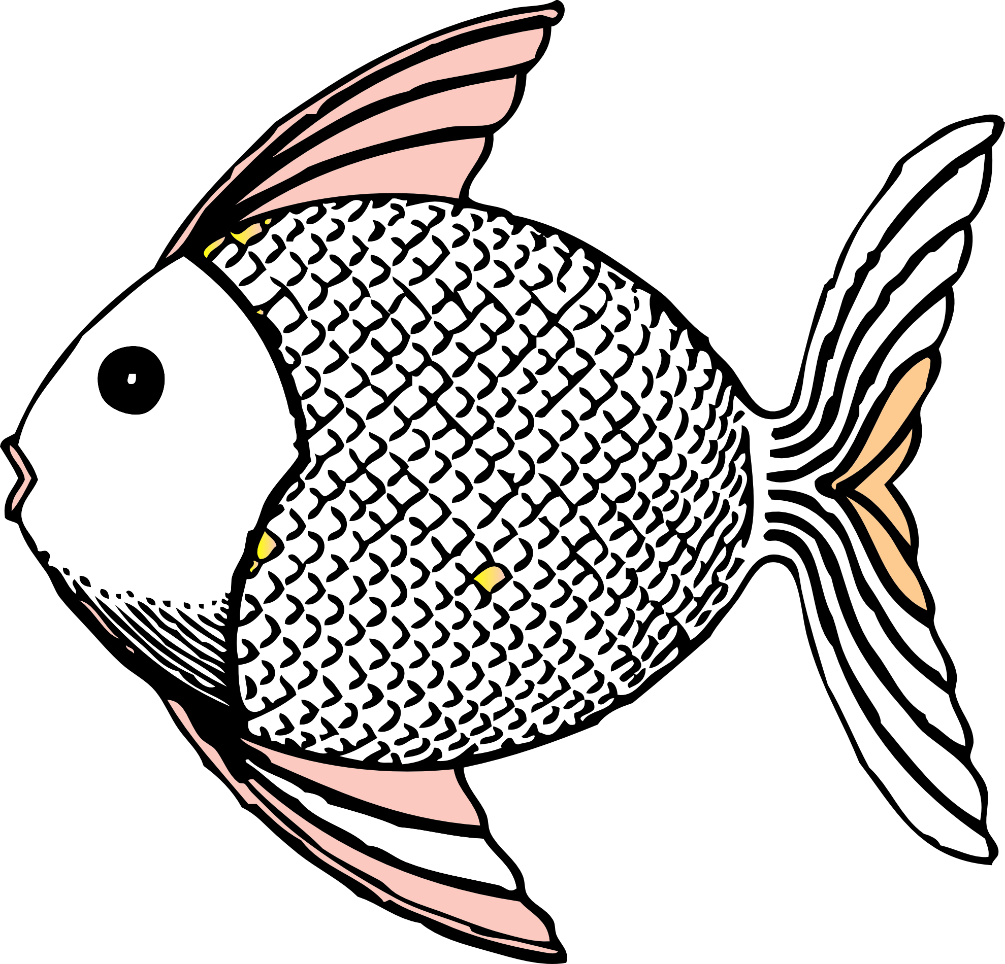 Black and white fish drawings clipart best for Best white fish
