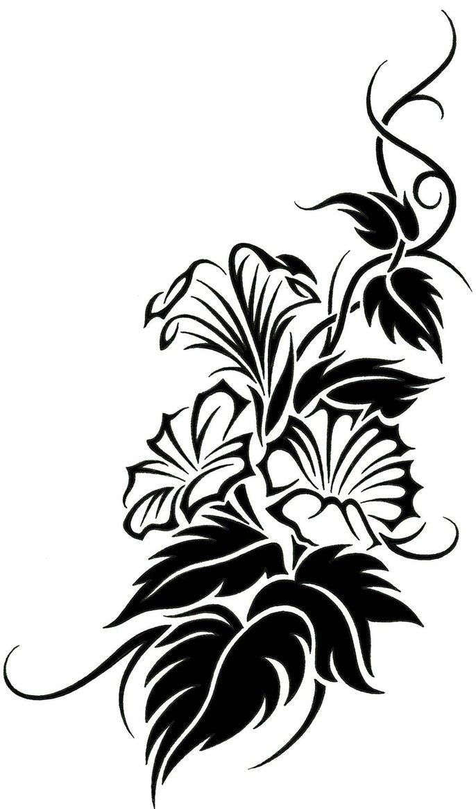 floral tribal vine tattoo design clipart best clipart best. Black Bedroom Furniture Sets. Home Design Ideas