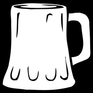 Beer Mug Black And White clip art - vector clip art online ...