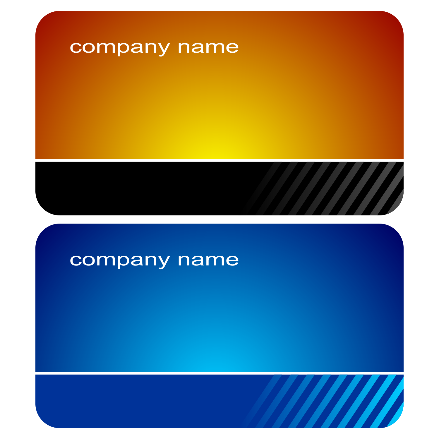 Vector For Free Use 2 Stylish Business Cards Vector