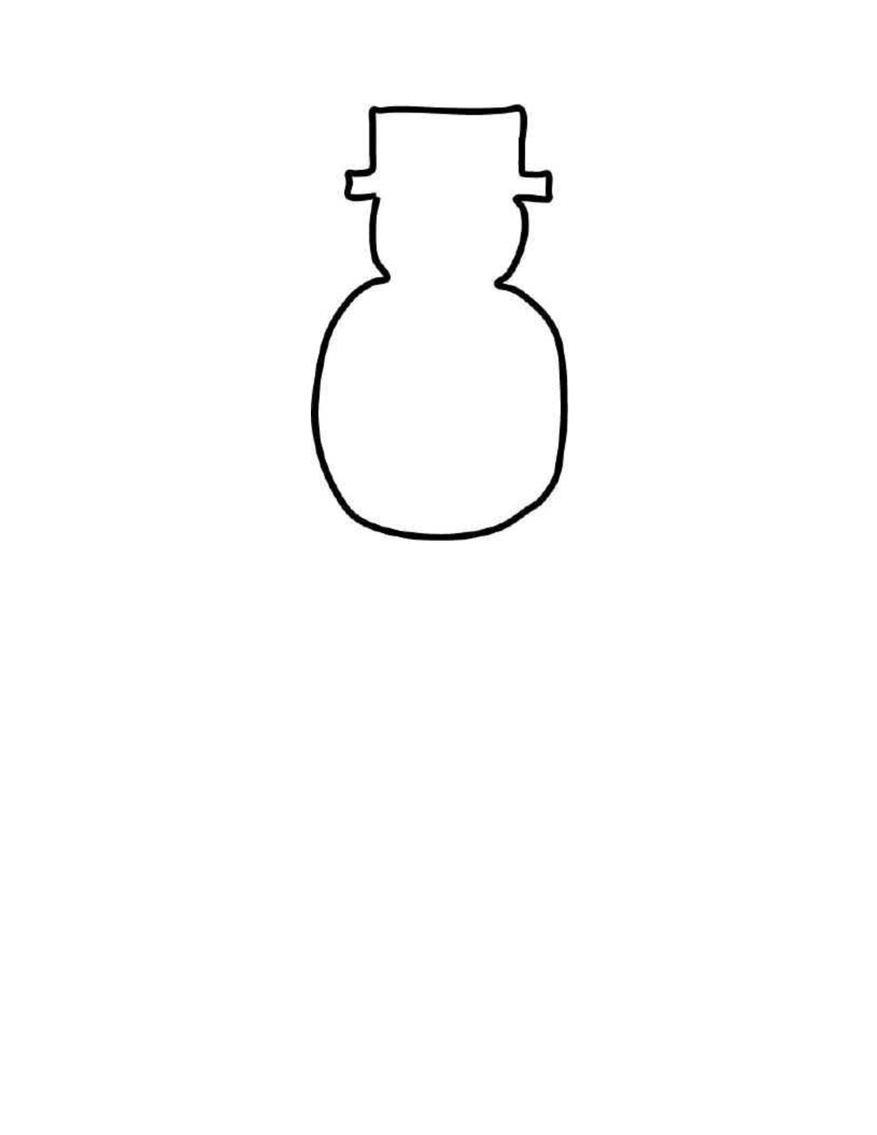 Blank Snowman Template - ClipArt Best