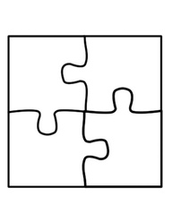 Puzzle Template 6 Pieces - ClipArt Best