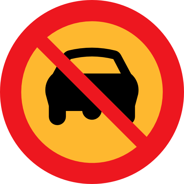 No Cars Sign clip art Free Vector / 4Vector