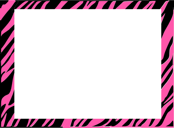 Pink Zebra Print Clip Art