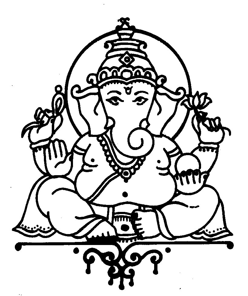 Ganesh Line Drawing : Ganesh line art clipart best