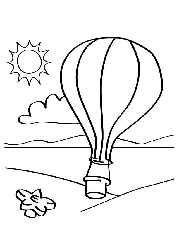 Hot Air Balloon Color Sheet