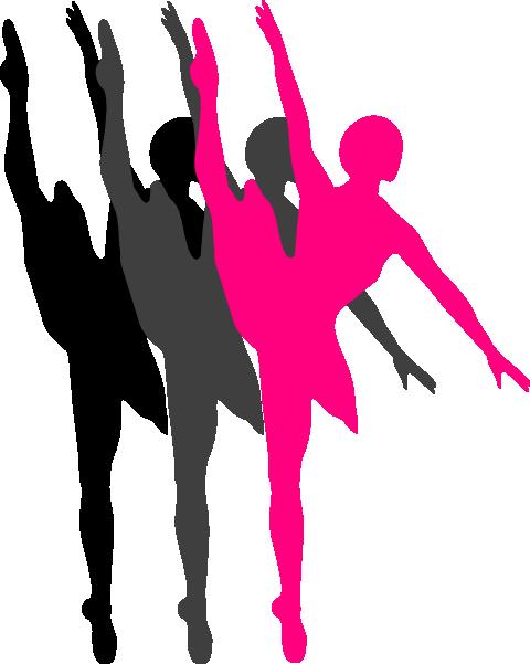 Triple Ballet Dancer Silhouette clip art - vector clip art online ...