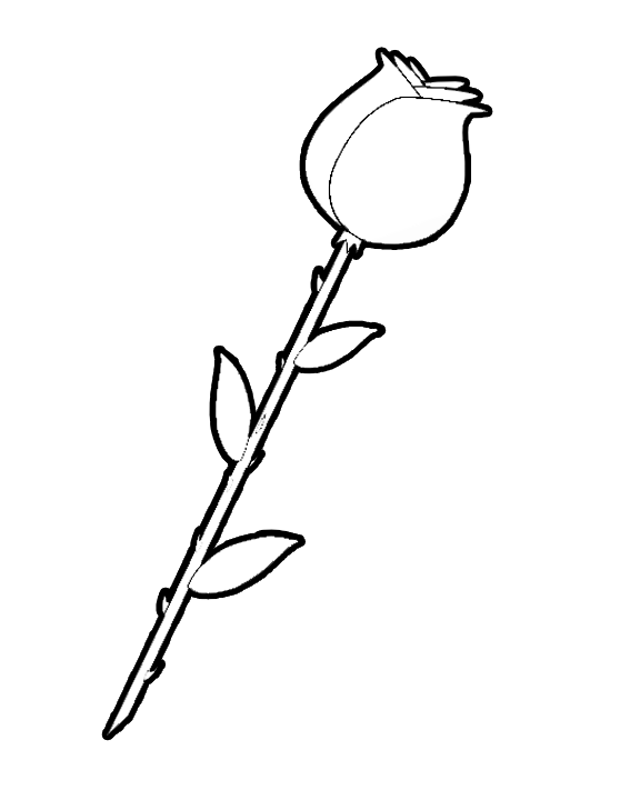 flower stems coloring pages clipart best