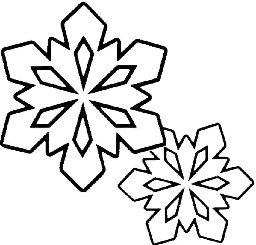 Рисунки снежинок черно белые