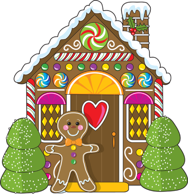 Cartoon christmas houses clipart best for Disegno della casa di marzapane