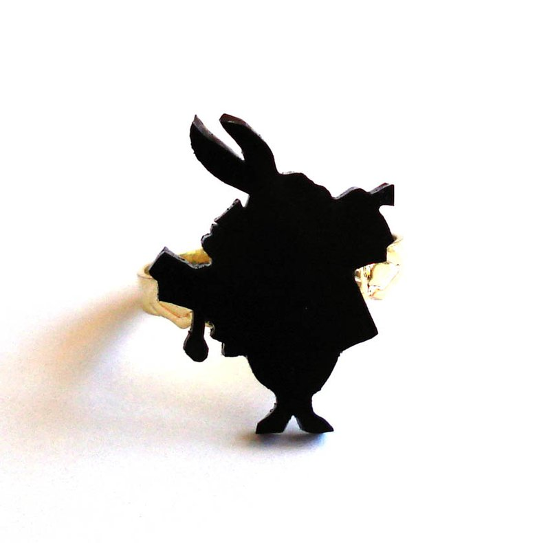 White Rabbit Silhouette Ring by FatallyFeminine on DeviantArt