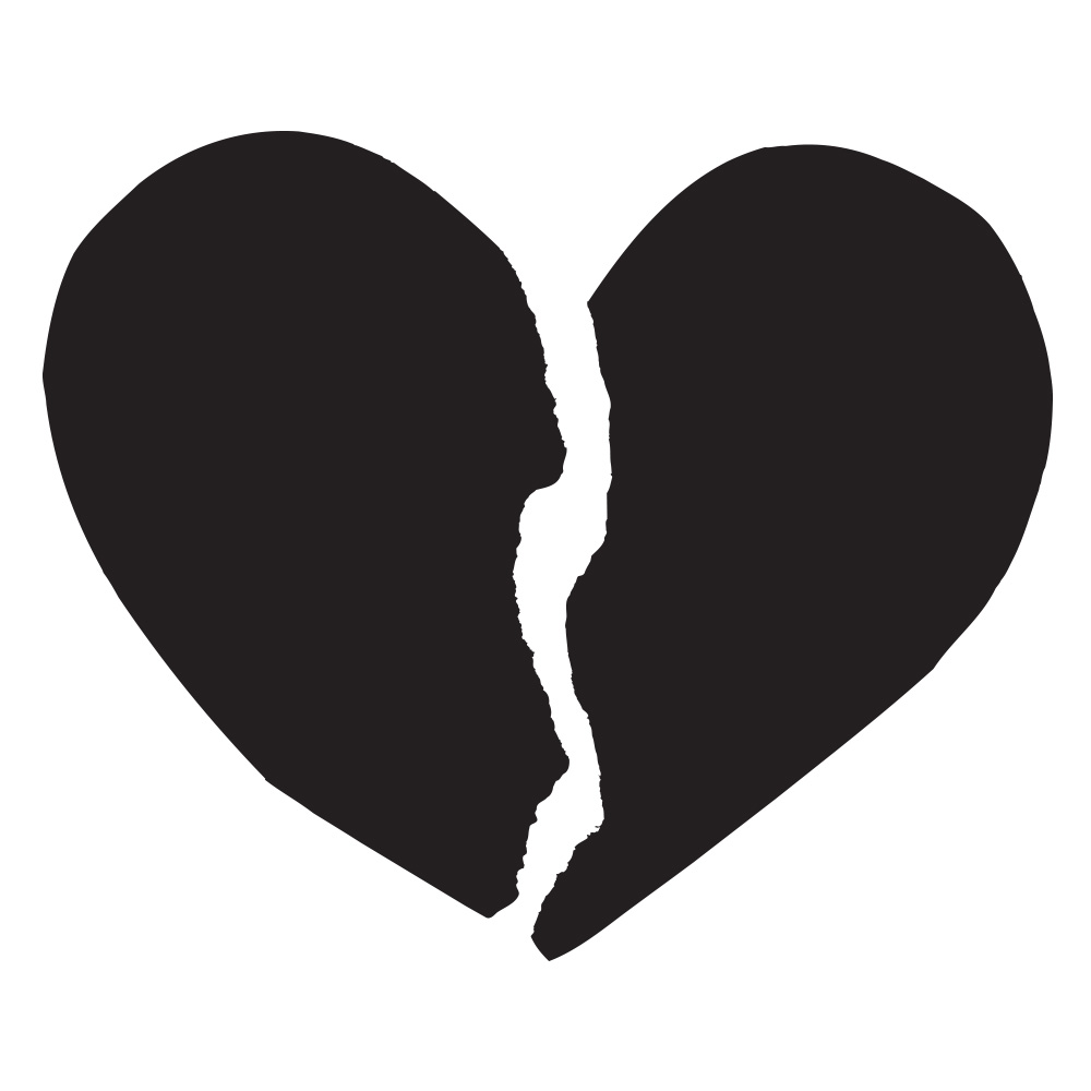 Broken Heart Black And White Photography - ClipArt Best