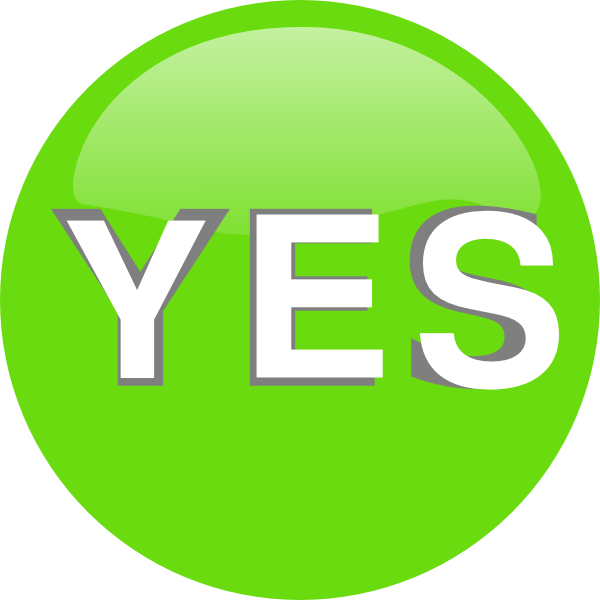 Yes Sign - ClipArt Best