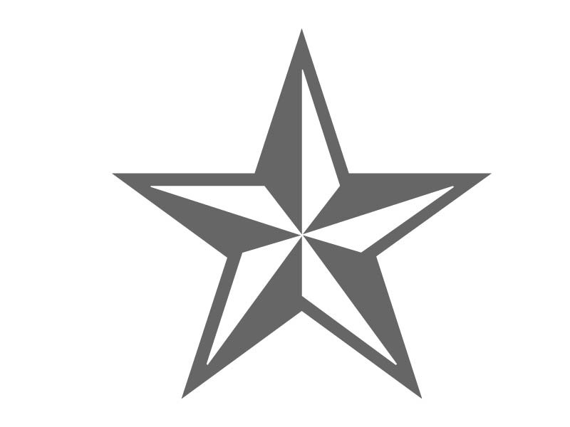 Stars stencils clipart best for How to draw a perfect star shape