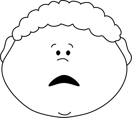 Scared Frown Face Clipart