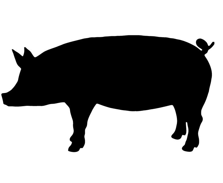 Pig Silhouette | Free Download Clip Art | Free Clip Art | on ...
