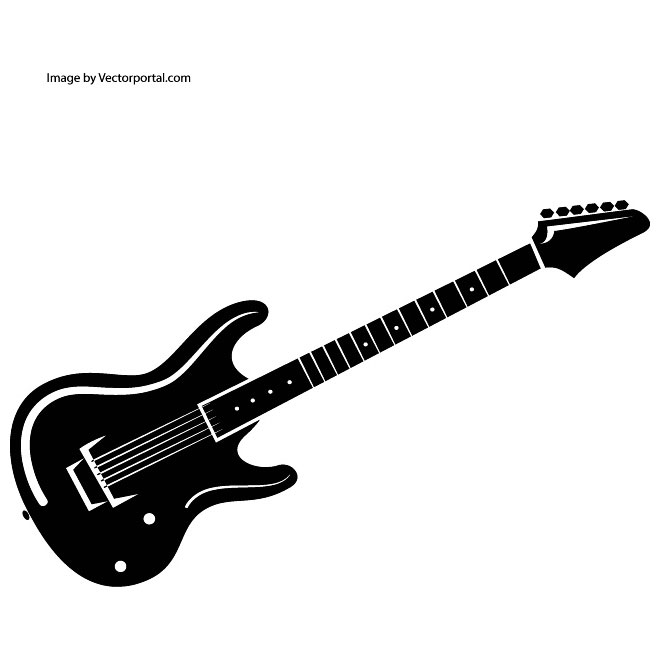 Guitar Clipart Black And White - ClipArt Best