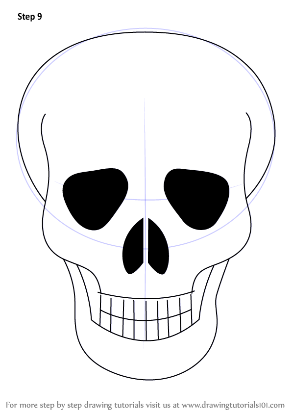 Skull Line Drawing Easy : Skull line drawings clipart best