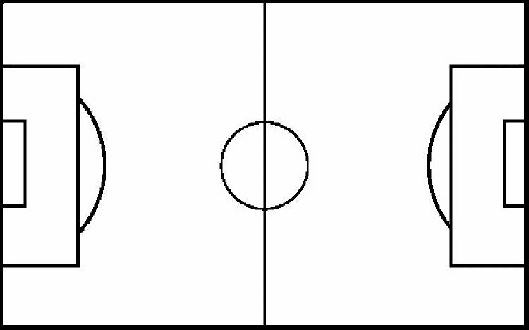 Outline of football field clipart best for Blank football field template