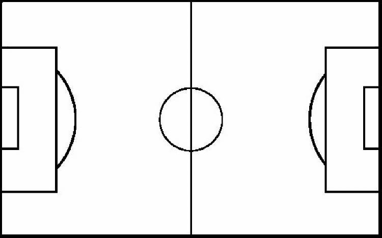 blank football field template - outline of football field clipart best