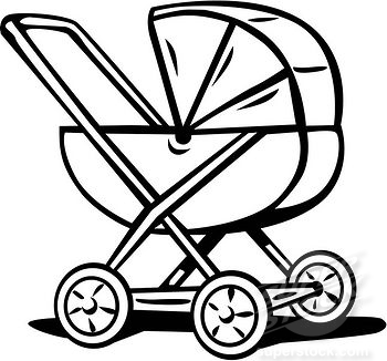 how to draw a stroller