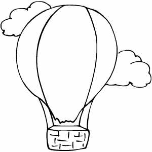 Free Black And White Balloon Clipart