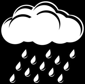 Raincloud Bw clip art - vector clip art online, royalty free ...
