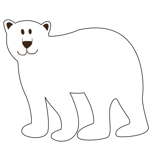 Drawing Lines With Polar Tracking : Polar bear line drawing clipart best