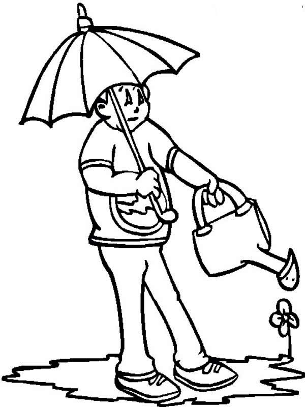 watering flowers coloring pages - photo#18