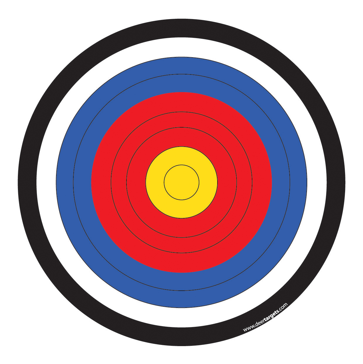 Invaluable image with regard to printable archery targets